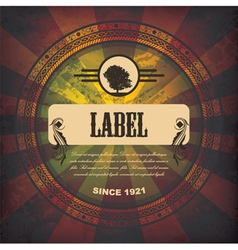 grunge label vector image