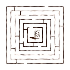 hand draw maze vector image