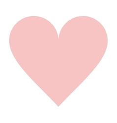 heart rose shape love design vector image