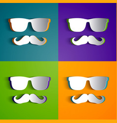 Hipster design collection vector