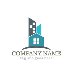 home building cityscape company logo vector image