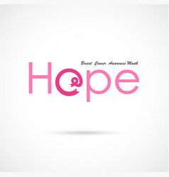 hope word iconbreast cancer october awareness vector image