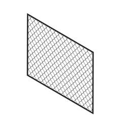 Isometric fence isolated on white no solid fence vector