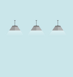 lamps interior elements flat style vector image