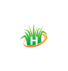 Lawn care center initial h vector