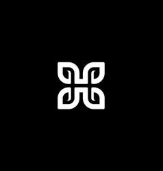 letter h with leaf or eco logo design concept vector image