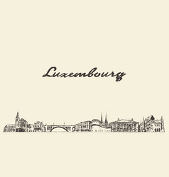 luxembourg big skyline city drawn sketch vector image