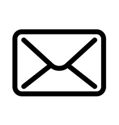 mail envelope icon symbol of e-mail communication vector image