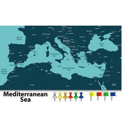 mediterranean sea vector image