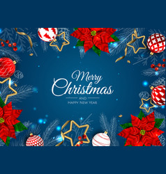 Merry christmas sale banner template greeting vector