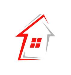modern house realty logo rowindows symbol vector image