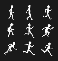 motion activity figure icons human actions like vector image