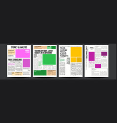 newspaper with text and images daily vector image