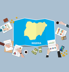 nigeria africa economy country growth nation team vector image