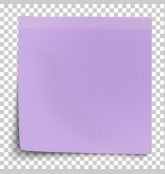 office violet paper sticker with bent lower left vector image