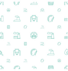 oil icons pattern seamless white background vector image