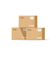 parcel boxes carton warehouse vector image
