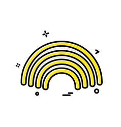 rainbow icon design vector image