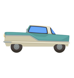 Retro car vintage vehicle 1960s isolated vector