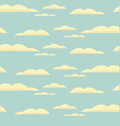 seamless background with blue sky and clouds vector image