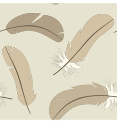 seamless pattern with isolated feathers vector image