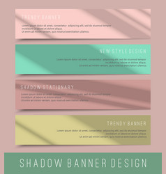 set colorful mock up paper banners with shadows vector image