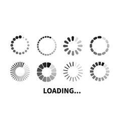 set loading icon vector image