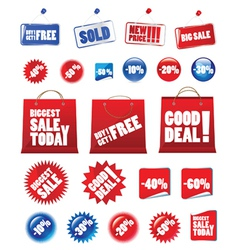 Shopping signs vector