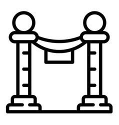 show barrier icon outline style vector image