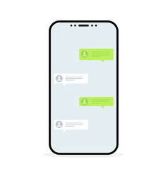 social network concept chat messages notification vector image