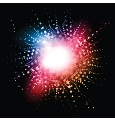 Star burst effect vector