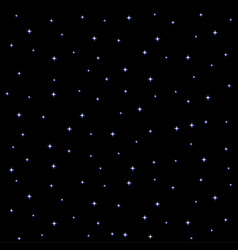 starry night sky square on black background vector image