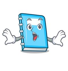 surprised education mascot cartoon style vector image