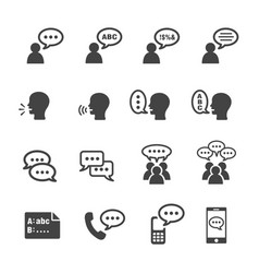 talk icon vector image