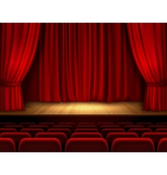Theater stage background vector image