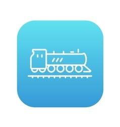 Train line icon vector