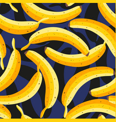 tropical pattern with bananas vector image