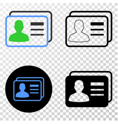 user cards eps icon with contour version vector image