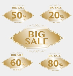 vintage frame big sale tags with badges and labels vector image