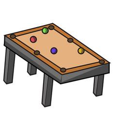 wood pool table pool table variation vector image