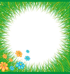 wreath and green meadow grass vector image