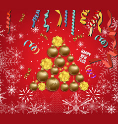 luxury elegant merry christmas and happy new year vector image vector image