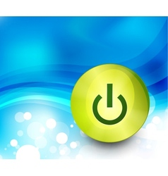 power button background vector image