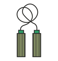 rope jump gym icon vector image