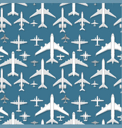 Airplane seamless pattern background vector