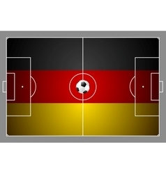 Bright soccer background with ball German colors vector image