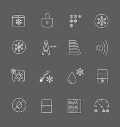 freezing signs and freezer symbols refrigerator vector image