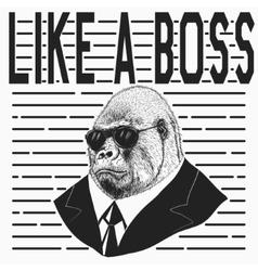 Gorilla dressed in jacket vector image vector image