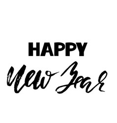 happy new year inscription for greeting card dry vector image
