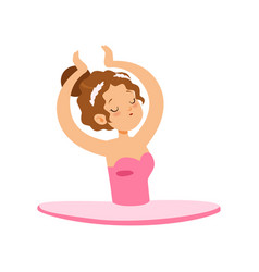 lovely ballerina girl character in pink dress vector image